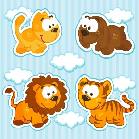 lion dog: icon animals vector Illustration