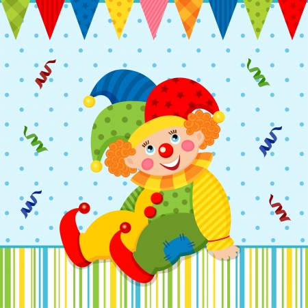 redheaded: joker clown Vectores