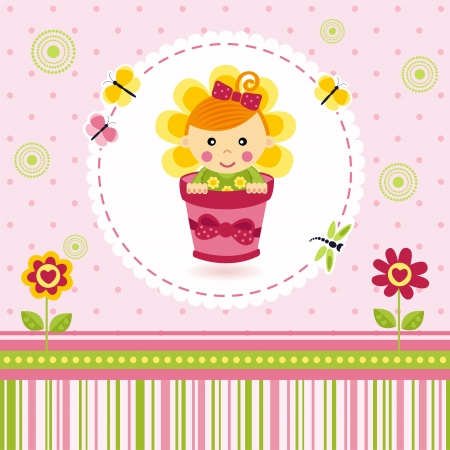 baby girl flower Vector