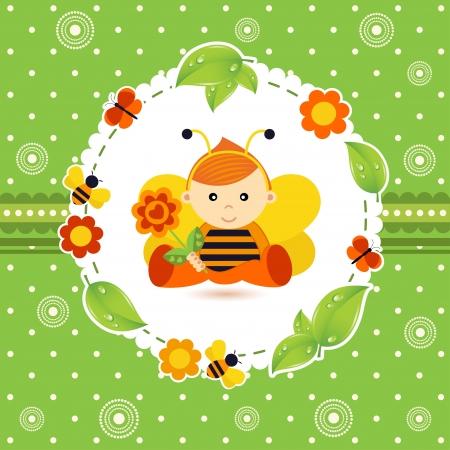 redheaded: baby boy bee
