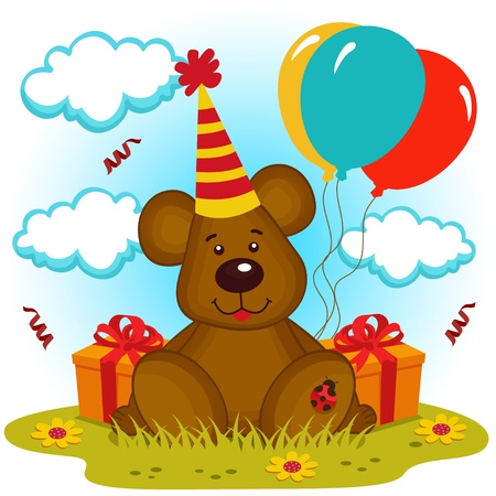 b day gift: bear birthday