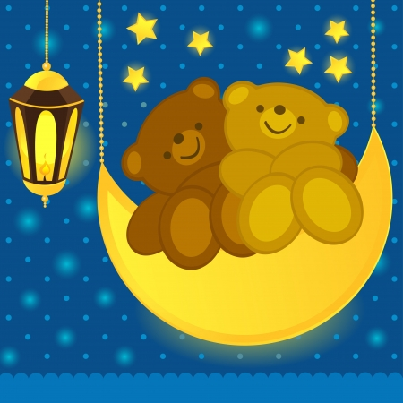 Love bears on the moon Vector
