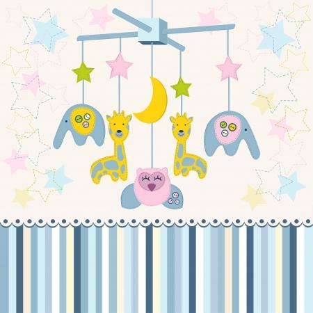 Karussell Baby für Krippe Vektor Illustration