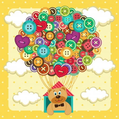 balloon from  of buttons  Vector