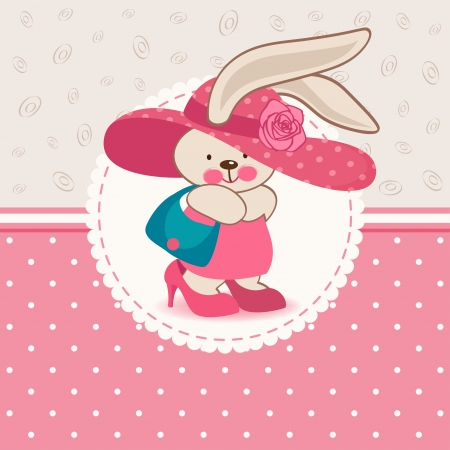 illustration, fashion young rabbit Vector