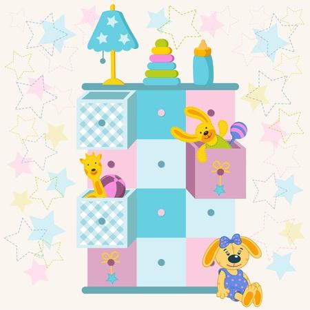 Spielzeugkiste Illustration