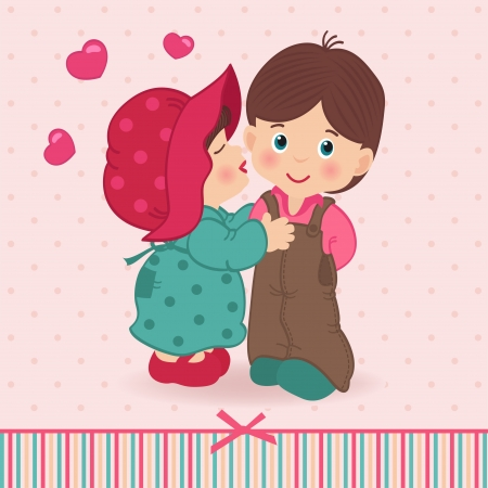 boy and girl love Stock Vector - 19585936