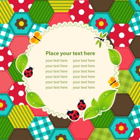 cadre: creative baby frame mosaic - vector illustration