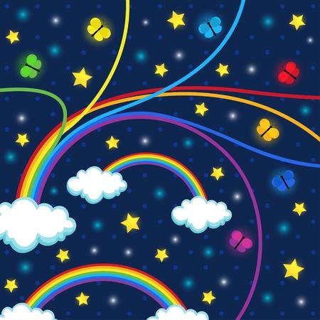 night stars background -  illustration