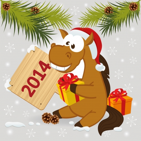 Pferd Symbol der 2014 Jahre - Vektor-Illustration