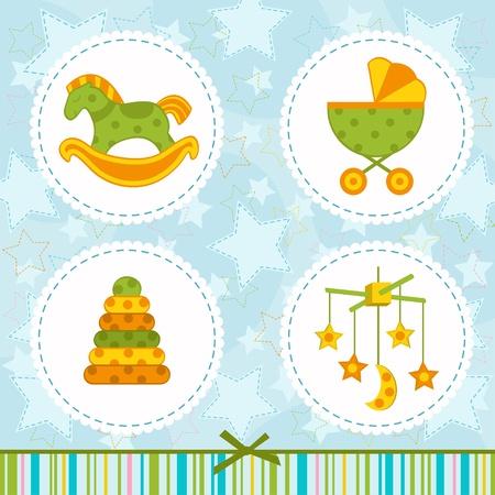 set icon baby - vector illustration Vector