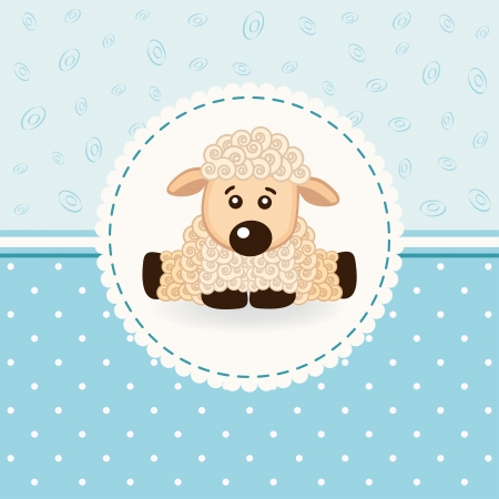 cartoon sheep: little sheep baby