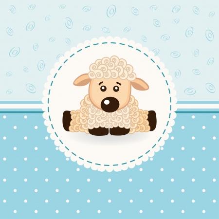 sheep clipart: little sheep baby