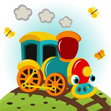 cartoon train: animated train