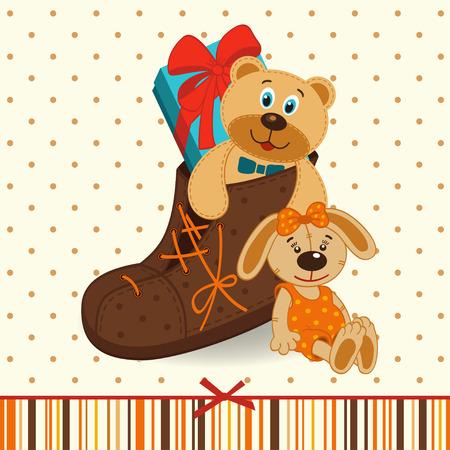 Schuhe mit Geschenken