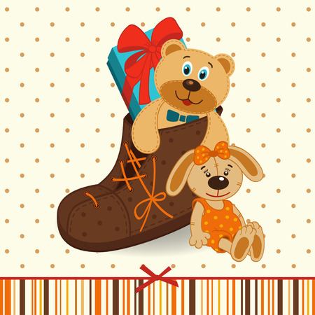 baby doll: shoes with gifts  Illustration