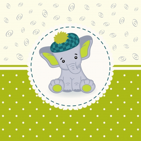 little elephant baby  Vector