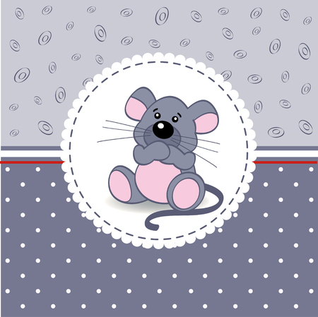 little mouse baby - vector illustration Vector