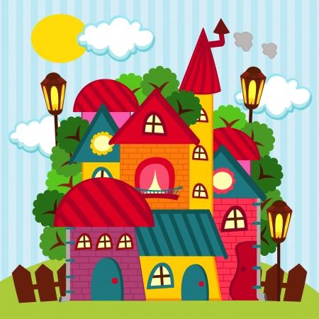 Häuser - Vektor-Illustration Standard-Bild - 23869743