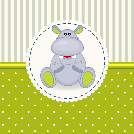 kleine Nilpferd Baby - Vektor-Illustration