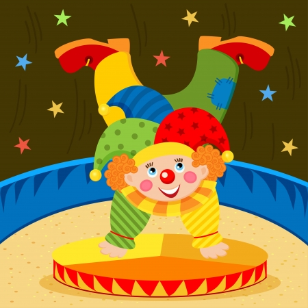 clown on stage - vector illustration Vector
