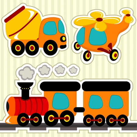 icon set transport - vector collection illustration Vector