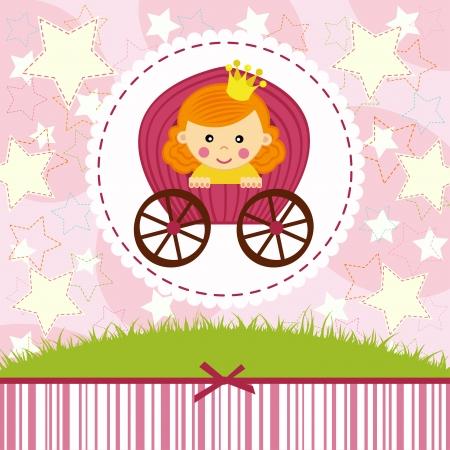 petite: baby girl princess illustration