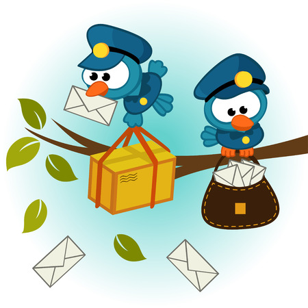 bird postman illustration  Vector