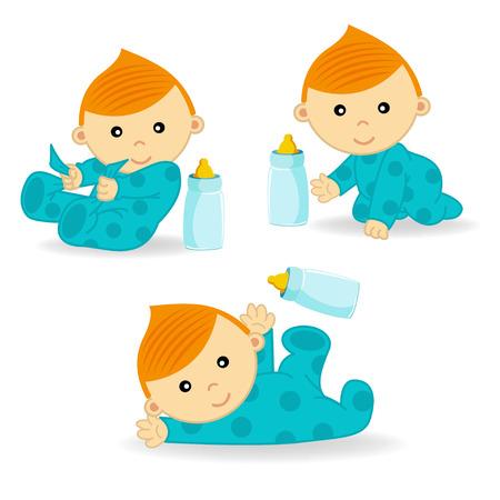 Baby-Aktion - Vektor-Illustration