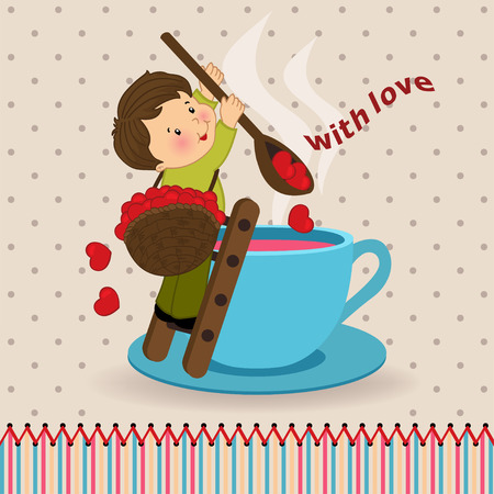 boy with love - vector illustration Vector