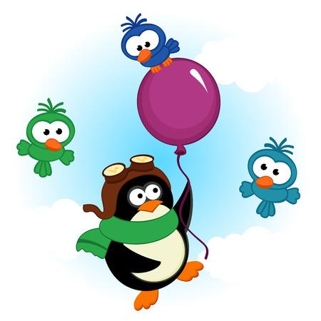 penguin on balloon