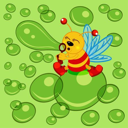 glowworm: glowworm and bubble - vector  illustration, eps