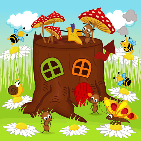 anthill: stump house insects