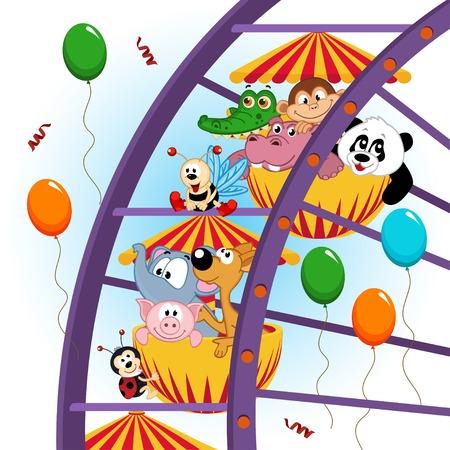 Tiere auf Riesenrad