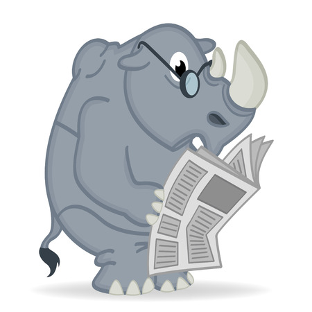 rhino liest Zeitung