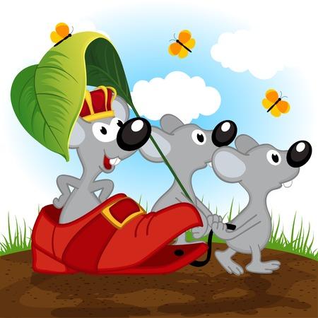 king master: mouse king - vector illustration, eps Illustration