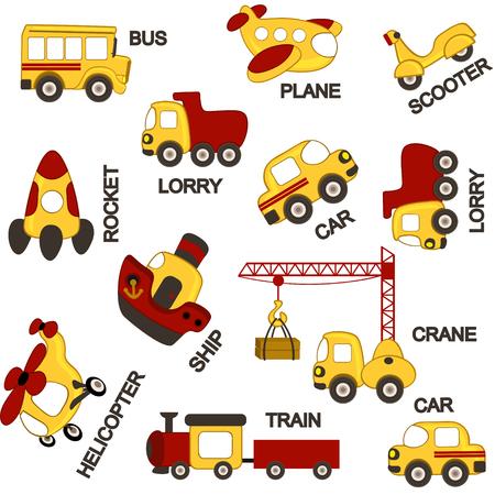 avion caricatura: transporte patr�n - ilustraci�n vectorial, eps Vectores