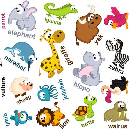 seamless pattern animals - vector illustration