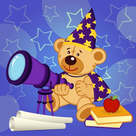 astronomer: teddy bear astronomer