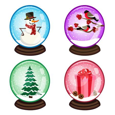 eps: snow globe - vector illustration, eps