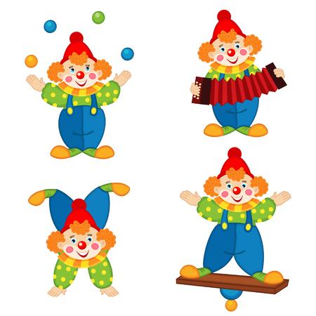 payaso: payaso de circo en acción