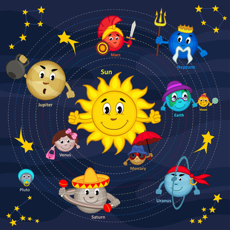 solar system - vector illustration, eps