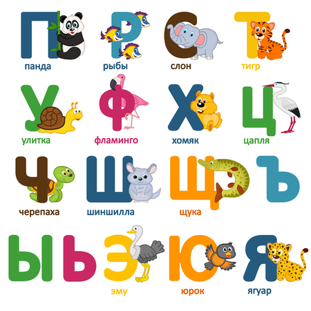 flamingos: alphabet animals russian