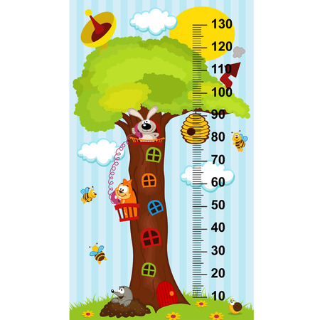 height: tree house height measure (in original proportions 1: 4)