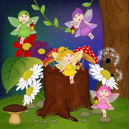 tree  forest: fairies in forest
