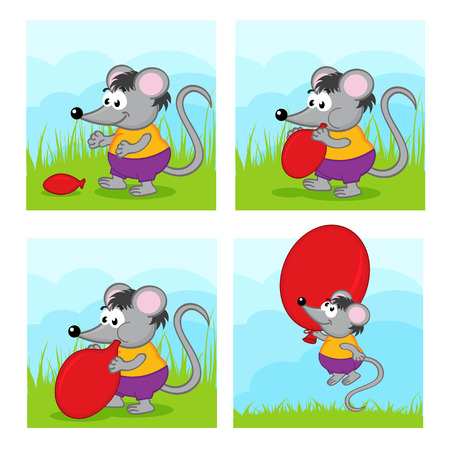 inflate: mouse inflates balloon