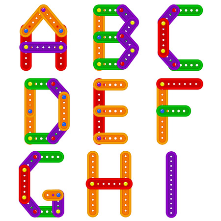constructor: alphabet from constructor from A to I