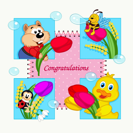 inflate: greeting card with congratulation