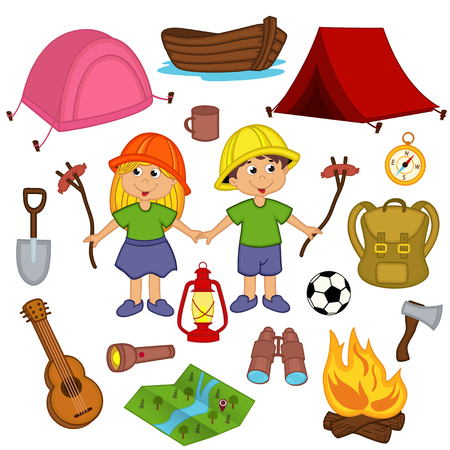 equipment: set camping equipment