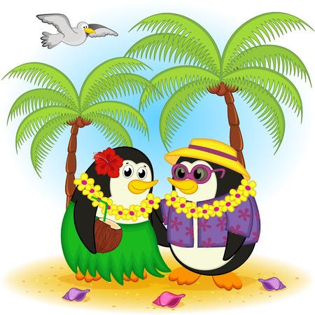 penguins on beach: penguins on beach Hawaii